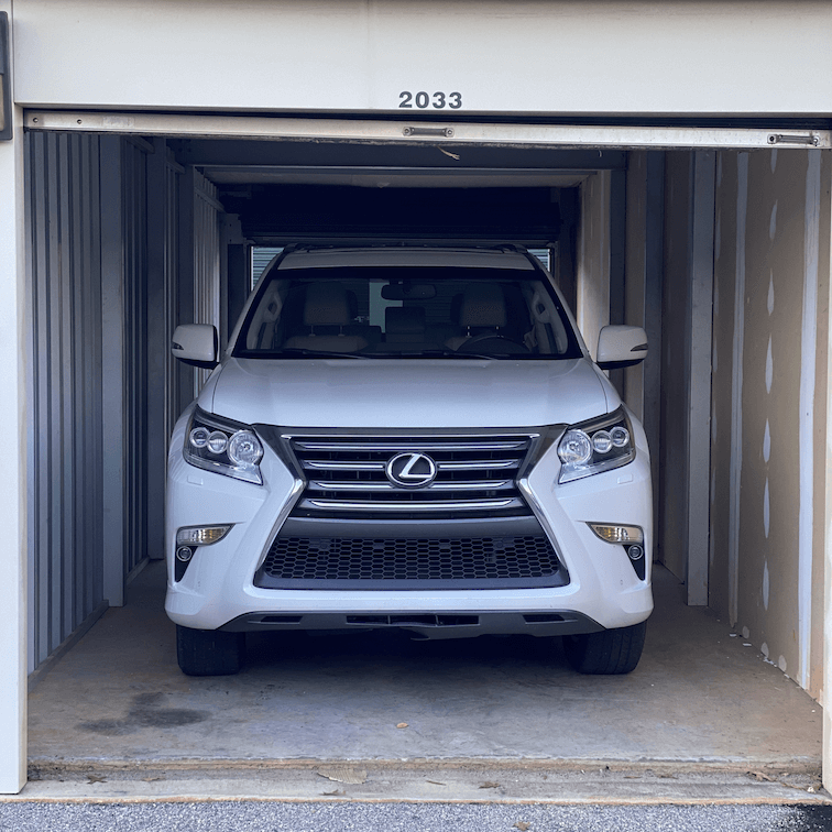 self storage for cars